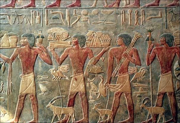 Egyptian Wall Art Mainly Used The Colors Blue, Black, Red, Green, And Gold.  Most Of The Art Was Religious And Featured Pharaohs, Pharaohs Were Often  Seen As ...