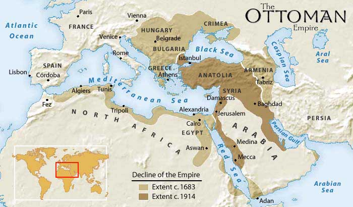 Maps of the Ottoman Empire  The Transformation of the Middle East